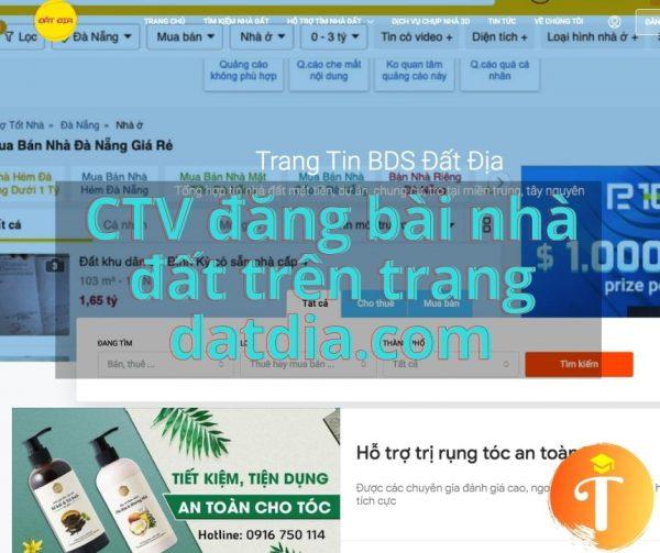 CTV đăng bài nhà đất trên trang datdia.com